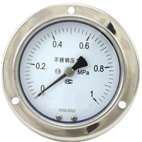stainless steel pressure gauge with oil