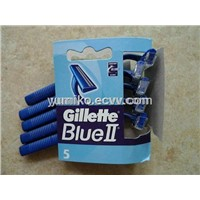 disposable razor Gillette Blue II(5pcs/paper card Euro version)
