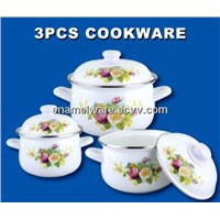 3pcs enamel casserole set cookware