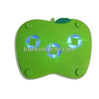 Apple Shape Notebook Cooler (NCP-2),Low noise Laptop Cooling Pad