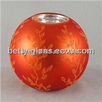 Beautiful Glass Candle Holder Craft Painting Glass Ball Candle Holder