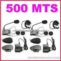 Bluetooth Motorcycle Accessories Helmet with Headset Interphone 500 Meters