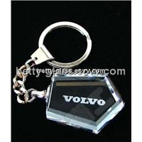 Cheaper Promotional Souvenirs Crystal Key Chain Beautiful Gift Box Crystal Key Chain