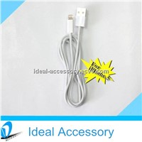 For iPhone5/iPad USB Round Data Cable 1m,2m,3m&7 Colors available With Charging&Sync Function