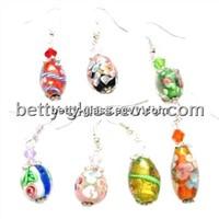 Glass Beads Gift Set Beautiful Women Glass Beads Earing