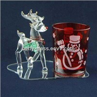 Glass Pen Holder with a Lovely Animal / Glass Arts&Crafts Factory