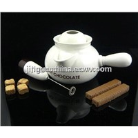 Stoneware Ceramic Hot Chocolate Pot