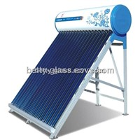 Integrated Solar Water Heater with Vacuum Tubes and Water Tank Green Energy Solar Home System