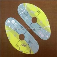 0.30mm Thickness Plastic Panel Sticker/  QH-MBT-019 PVC Foot Massager Machine Panel Stickers