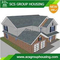 200m2 Modern House of Steel Structure/Earthquake Resistance_SCS GROUPHOUSING