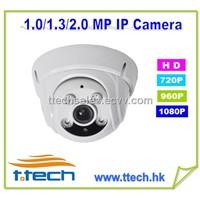 20M Night-vision 1.3 Megapixels 720P IP Dome Camera