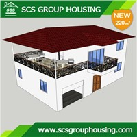 220m2  Countryside House of Steel Structure/Earthquake Resistance_SCS ROUPHOUSING