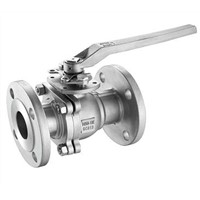 2PC Ball Valve Flanged End With Mounting Pad JIS10K