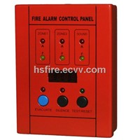 2 Zones Mini Conventional Fire Alarm Control Slave Panel