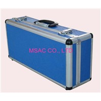 2mm Eva Blue Aluminum Carrying Cases with Leather Handle For CD Holder