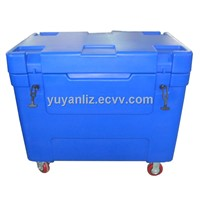 310Ltrs Dry Ice Container with wheels for dry ice cooling