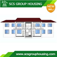 360m2 Four-Families Building Steel Structure/Earthquake Resistance_SCS GROUPHOUSING