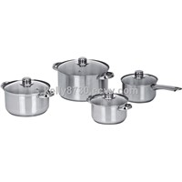 8PCS STAINLESS STEEL COOKWARE SET