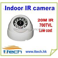 Low cost Indoor CCTV IR Camera with 20m, security camera 700TVL IR dome camera