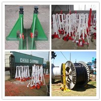 Cable drum trestles, made of cast iron,Jack towers,Cable Drum Lifting Jacks