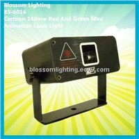 Cartoon 140mw Red And Green Mini Animation Laser Light (BS-6016)