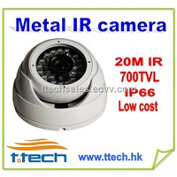 Cheap low cost IP 66 CCTV IR Metal IR Dome Cameras, 20M IR Security Cameras 700TVL