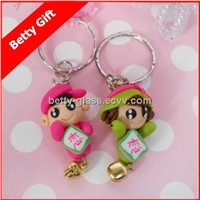 Cheaper Business Promotion Gift Cute Girl and Boy Friend Keyring Gift