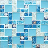 Crystal Glass Mosaic with Ice Broken FTU2-2
