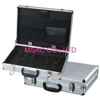 Custom Silver Aluminum Tool Cases , Elastic Holder for Carry Hand Tools