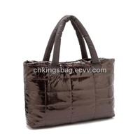Dark Brown Soft PU Ladies Quilted Handbag,Beauty Quilted Soft PU Ladies Tote Bag,Fashion Gift Bag