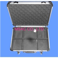 Detachable Silver Aluminum Tool Cases , Hand Tool Boxes With Foam