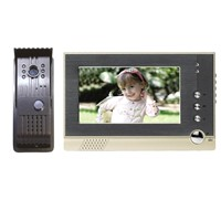 Digital  7''   LCD  Color Video Doorbell /  Video Door Phone  with white LED light