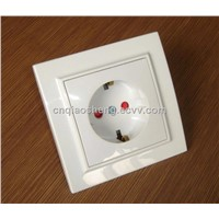EU wall socket with earth 2014 new