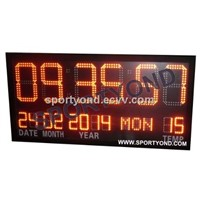Electronic led clock digital board with temperature