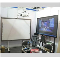 Factory price IR 82 inch infrared interactive whiteboard for classroom with smart pen tray