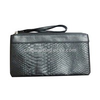Fashion Popular Snake Pattern Ladies Clutch Bag in Black Color,Ladies Perfect Purse