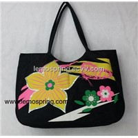 Flower design  Beach  Bag  Fashion Promotional bag