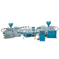 Full -automatic Disk Type Duble Color TPR &PVC &TPU Plastic Sole Injection Moulding Machine