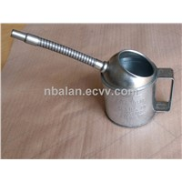 Galvanized Measure Oil Can with Spout, 1QT 2QT 4QT