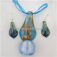 Glass Beads Wholesale Perfect Blue Glas Beads Jewelry Set