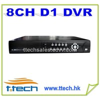H.264 8CH DVR 960H/D1 DVR with 8CH A/V 2 HDDS, 3G and WIFI,mobilephone viewing