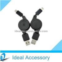 High Quality 8Pin USB Retractable data Cable on stock fast shipping
