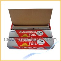 High grade aluminum house foil roll in cutter box