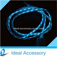 Hot Selling El Visible flashing USB data cable for iPhone5/5s/5c and other 8pin device