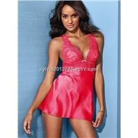 Hot sexy lingerie brand name sleepwear for women