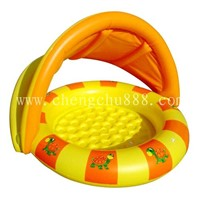 Inflatable Pool with Sunshade