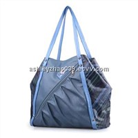 Lady fashion handbags, big size pu material for UK