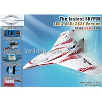 MODEL airplane SKYFUN Brushless LCD 2.4GHz with 3G3X from SKYARTEC RC