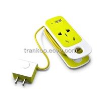 Mini Portable Socket with USB Port Socket Battery Charger