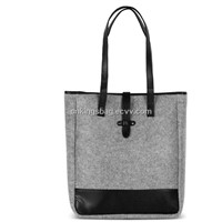 Mix Color Felt Ladies Tote Bag,Beauty Ladies Shopper Bag,Woman's Felt Beach Bag